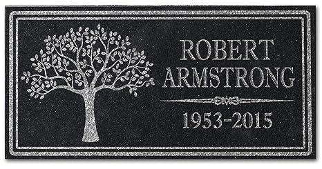 amazon com in loving memory personalized granite memorial stone