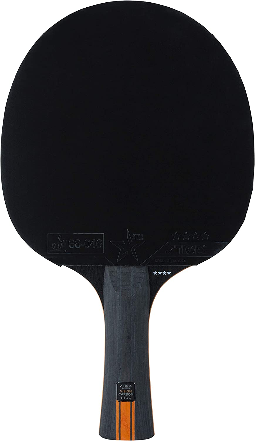 Stiga 4-Star Vision Carbon Palas de Ping Pong, Unisex-Adult, Black/Red, One Size