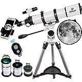 Gskyer Telescope, Telescopes for Adults, 600x90mm AZ Astronomical Refractor Telescope,Telescope for Kids,Telescopes for Adult