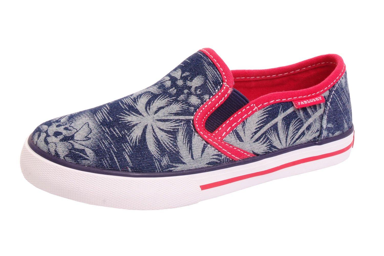 Pablosky 9347 Boys Sneaker Maui Palm Print Indigo (39 M EU/6.5 US)