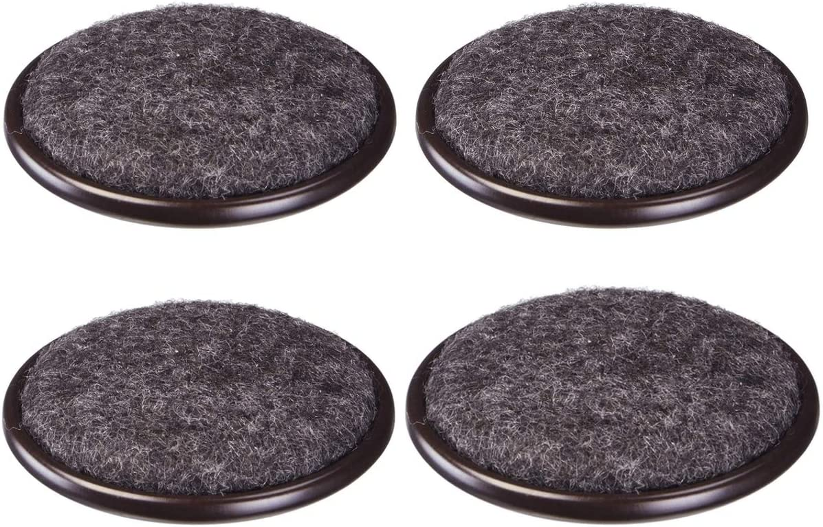 Rocky Mountain Goods Carpet Base Furniture Cups 4 Pack - Protection for Hardwood Floors, Carpet, Laminate, Tile - Non Slip Heavy Duty Metal Design with Carpet Base Caster Cups (1 5/8