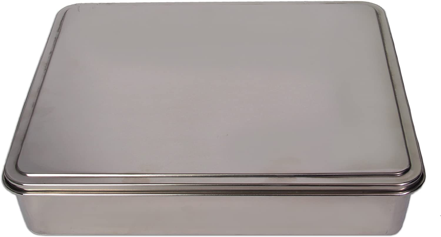 YBM Home Stainless Steel Covered Cake Pan, Non Stick Bakeware with Lid 17x11 Inches (Large-2403)
