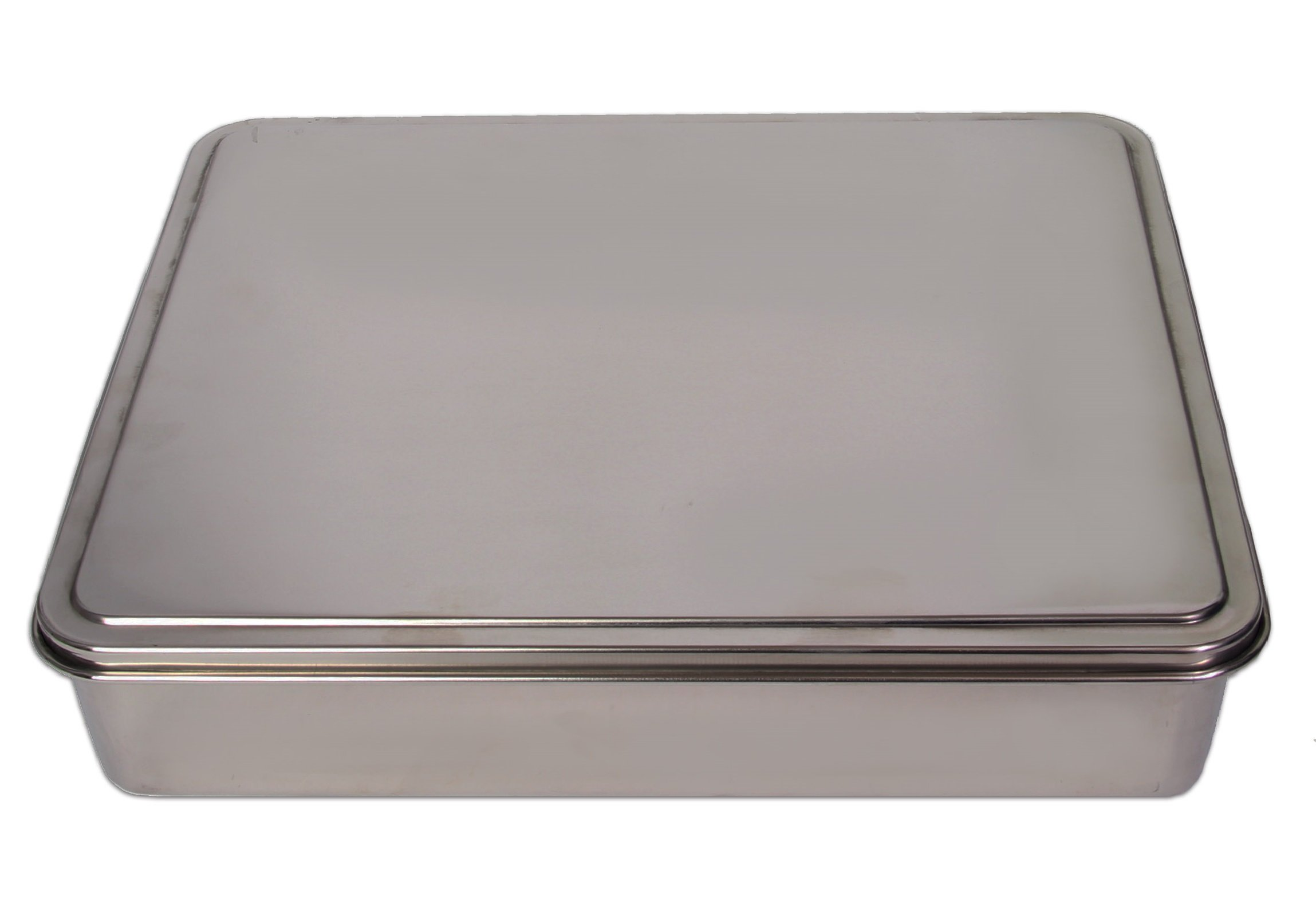 YBM HOME Stainless Steel Covered Cake Pan, Silver (Extra Large-2403) by YBM HOME (Image #1)