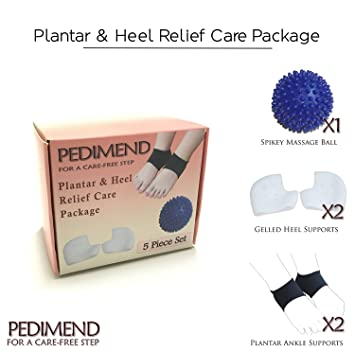 pedimend médico silicona talón y Fascitis Plantar alivio Care Pack ...