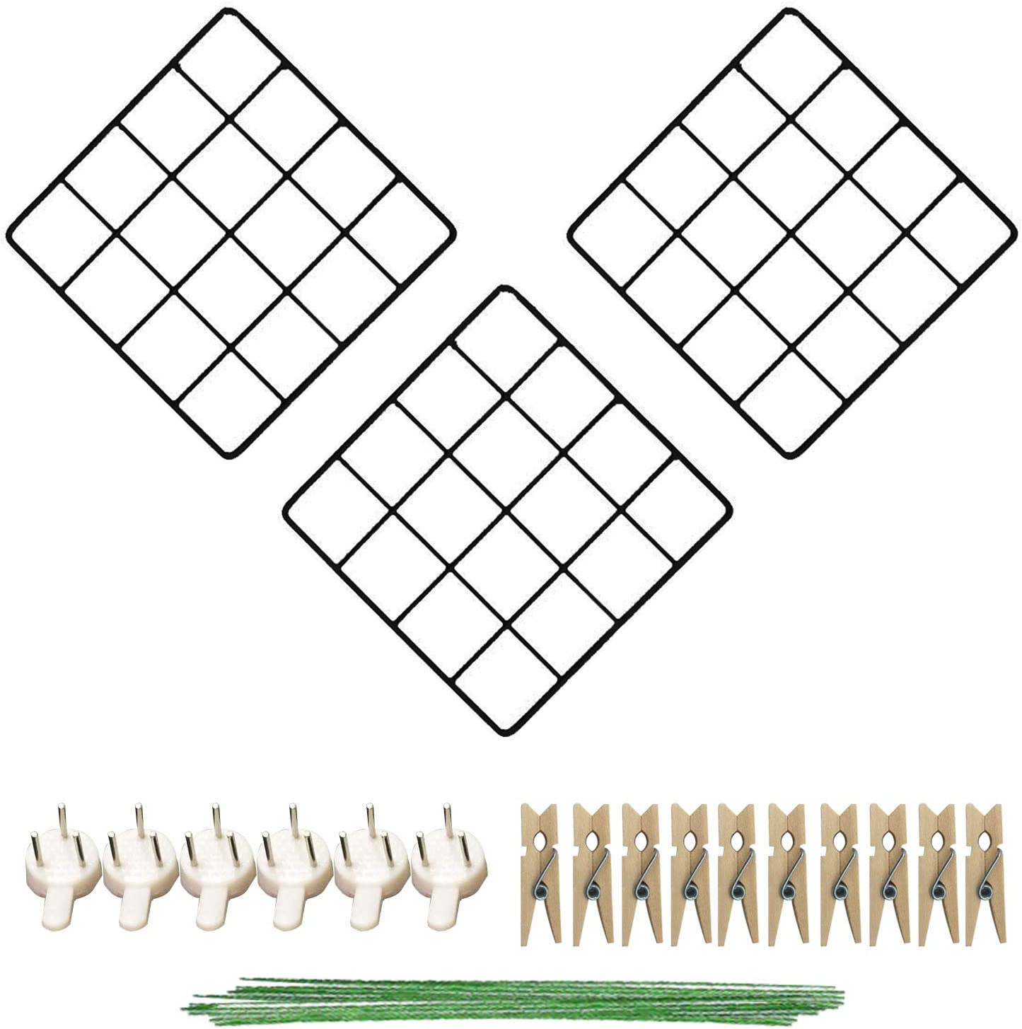 3 Pack Wire Grid Panel, 8