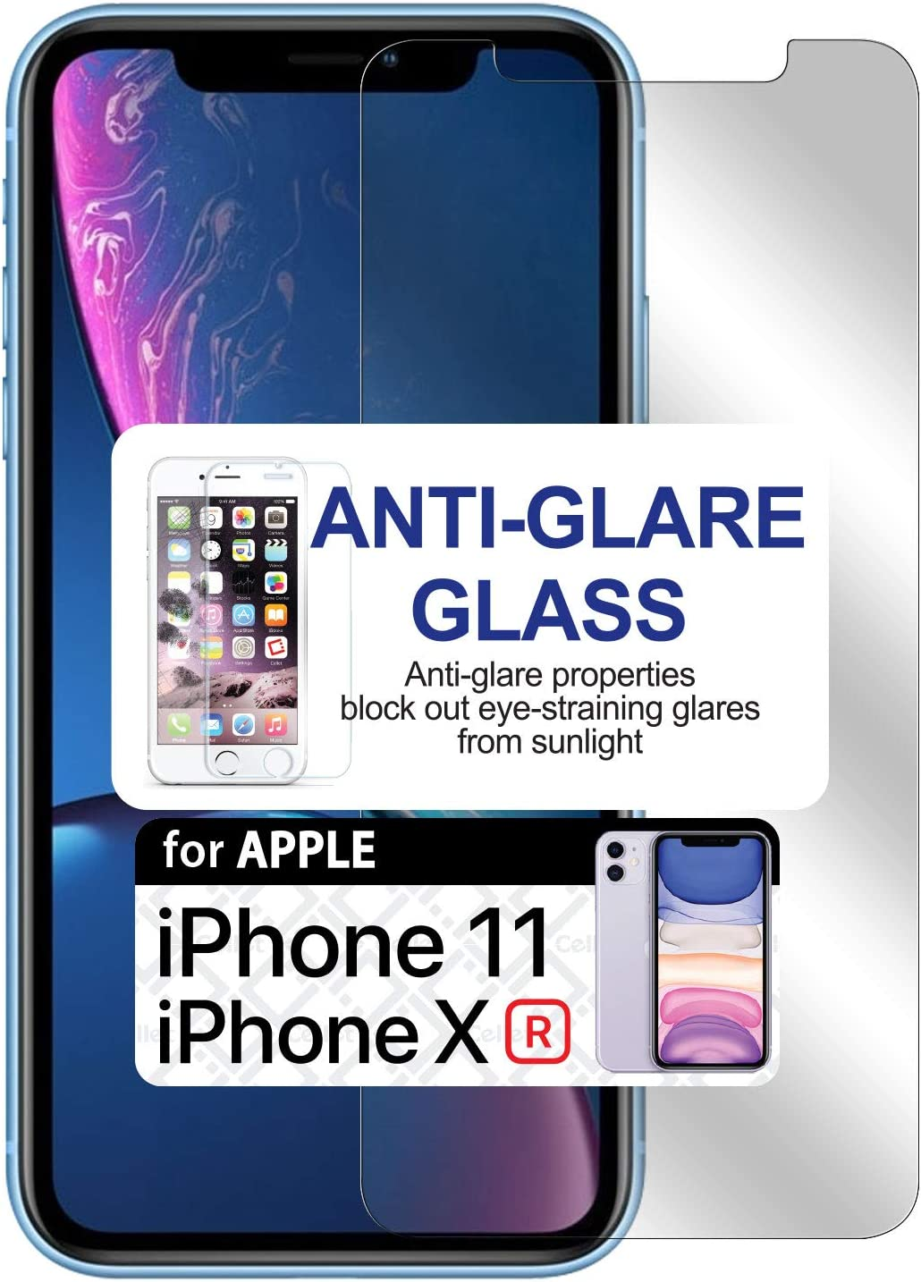 Cellet 9H Hardness Smartphone Anti-Glare Tempered Glass Screen Protector Slim Shatter Proof Compatible with iPhone 11 and XR