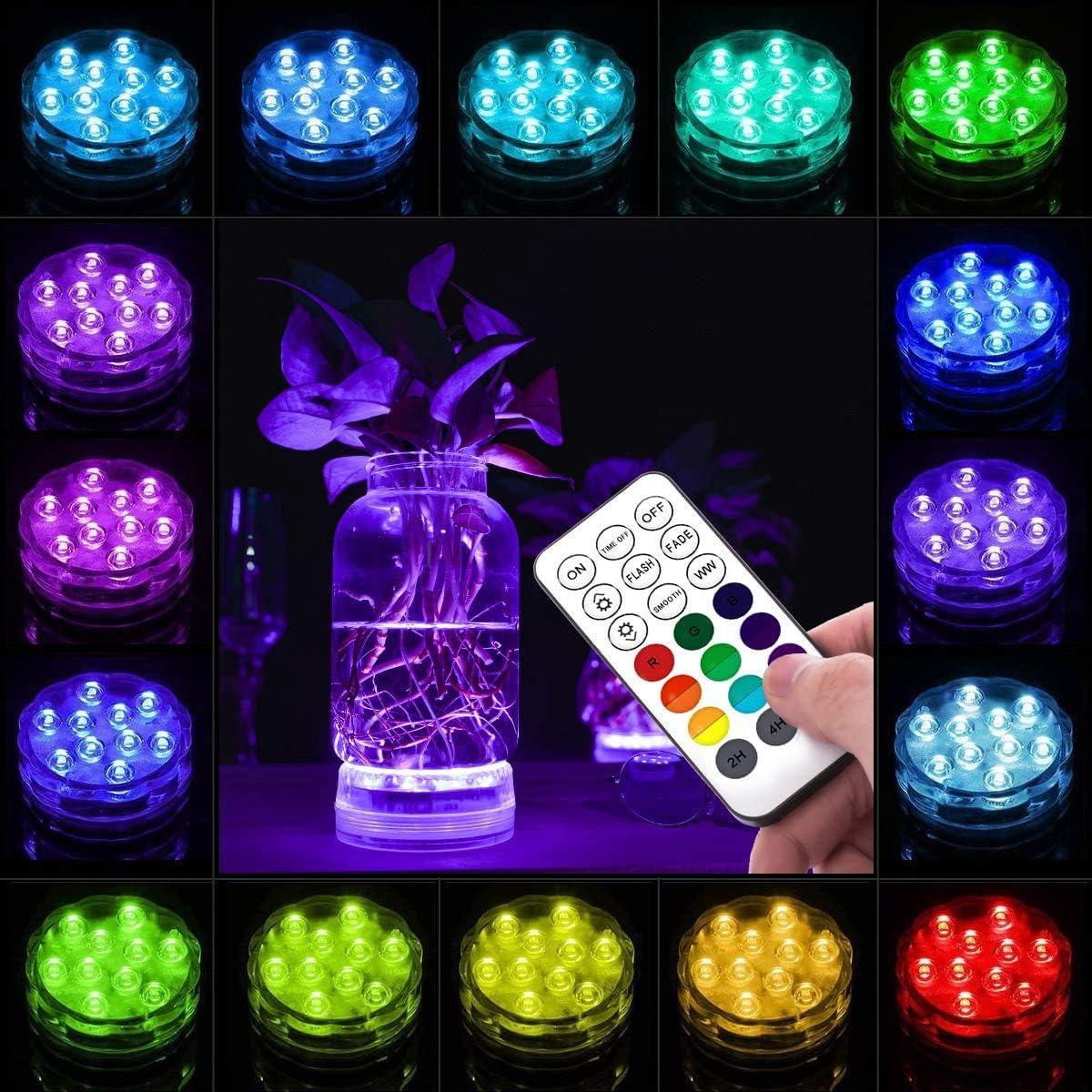 2 St/ück LOFTEK Unterwasser Led Pool Licht RGB Farbwechsel wasserdichte Poolbeleuchtung mit Fernbedienung Magnet f/ür Schwimmbad Badezimmer Brunnen Aquarium Vase Base Fest Dekoration