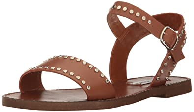 0884f1bf713 Steve Madden Women s Donddi-s Flat Sandal Tan Leather 6 ...