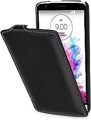 StilGut® UltraSlim Case, custodia in pelle per LG G3 Stylus, nero nappa