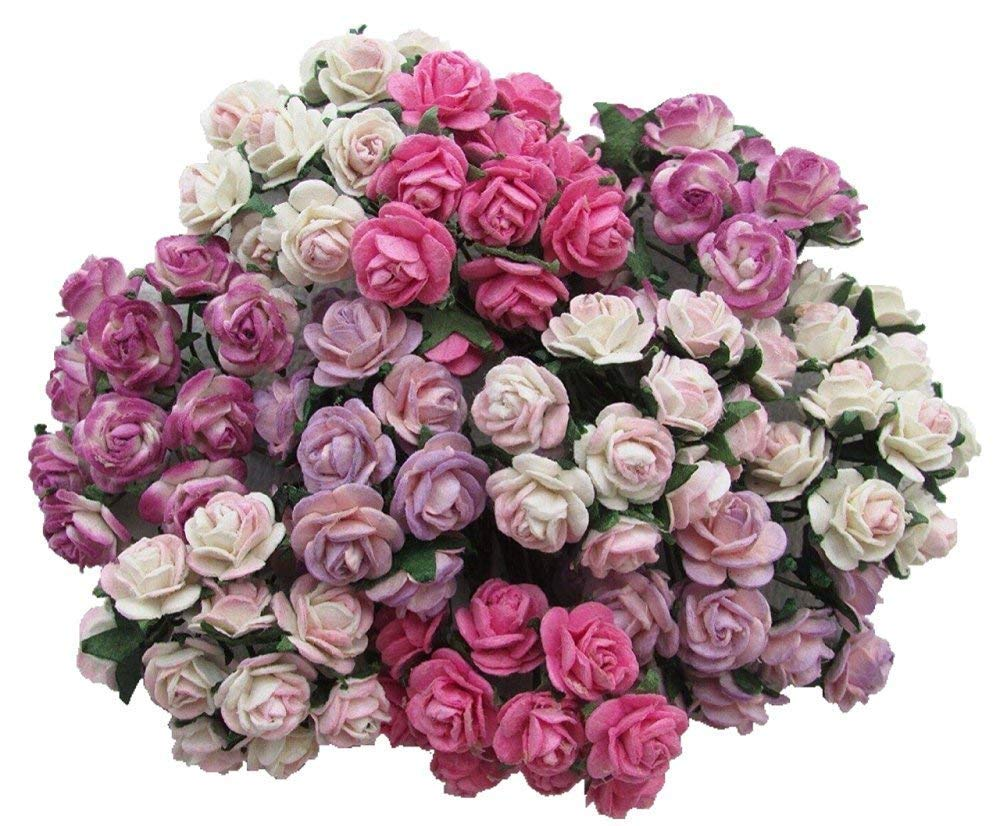 100 pcs Mini Rose Mixed Pink Color Mulberry Paper Flower 10 mm Scrapbooking Wedding Doll House Supplies Card, Products from Thailand by...RATREE Shop. 4336860622