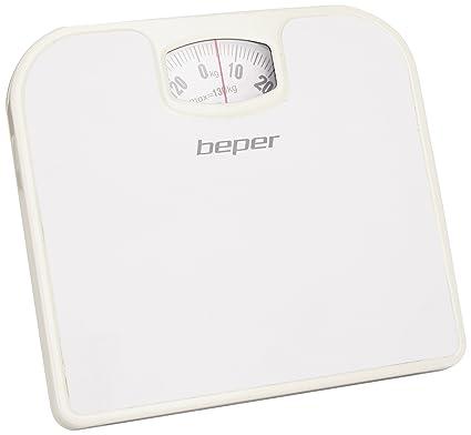Beper 40.805/WH - Báscula de baño analógica, color blanco