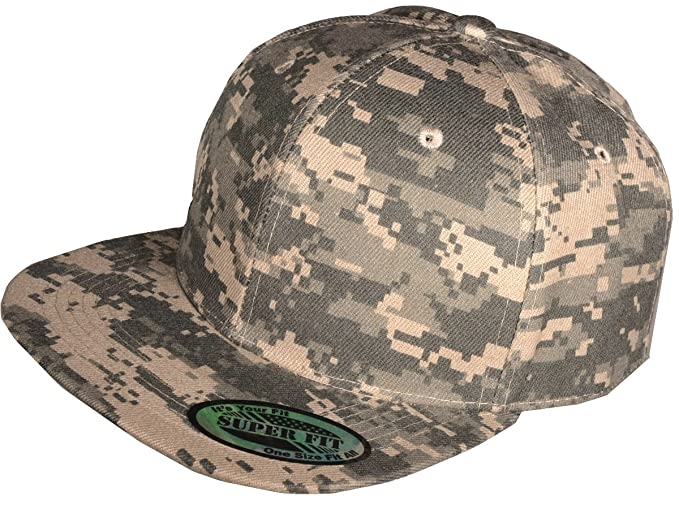 5df00f514f7 New Digital Camo Camouflage Flat Bill Snapback Hat - Baseball Cap (Digital  Camo)