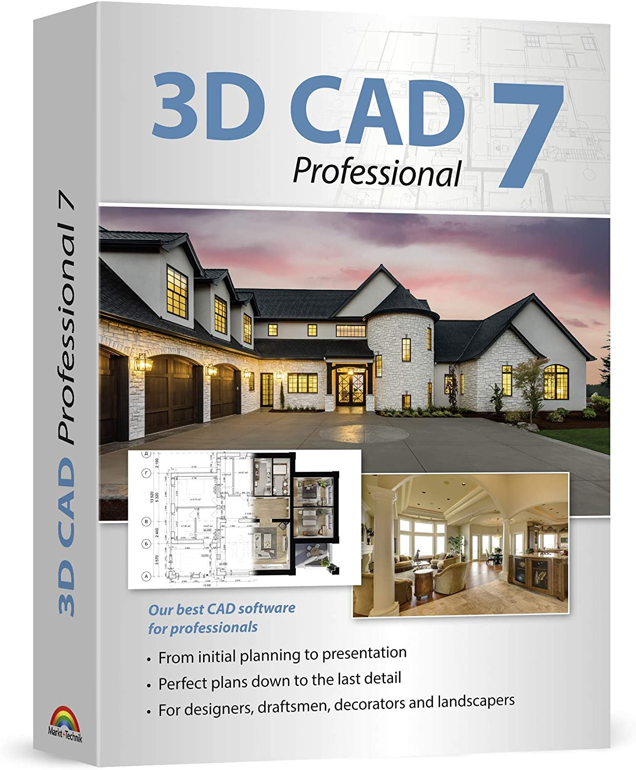 3D CAD 7 Professional - Plan & design buildings from initial rough sketches to the finished blueprints - CAD and architecture software