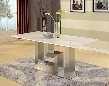 Artemis blanc table de salle à manger en marbre - Marbre Granit ...