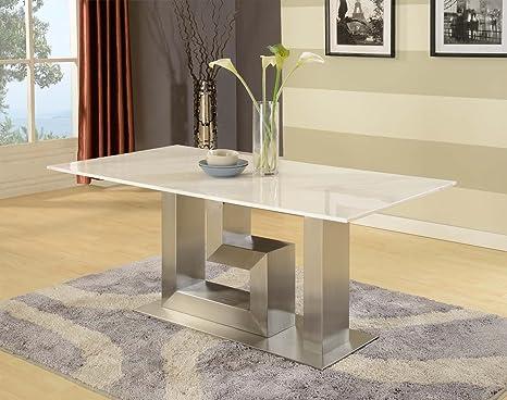 Artemis mármol blanco mesa de comedor - diseño italiano ...