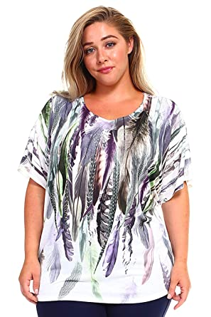 d882fd44 Love Clara Women's Plus Size Scoop Neck Fashion T-Shirt Sublimation Print  Top Tee at Amazon Women's Clothing store: