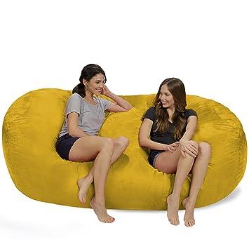 Amazon.com: Silla de saco puf: Tamaño grande, bolsa ...