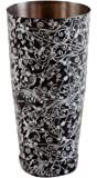 Black & White Flower modello 793,8 gram Boston cocktail shaker Tin ponderata Cheater latta