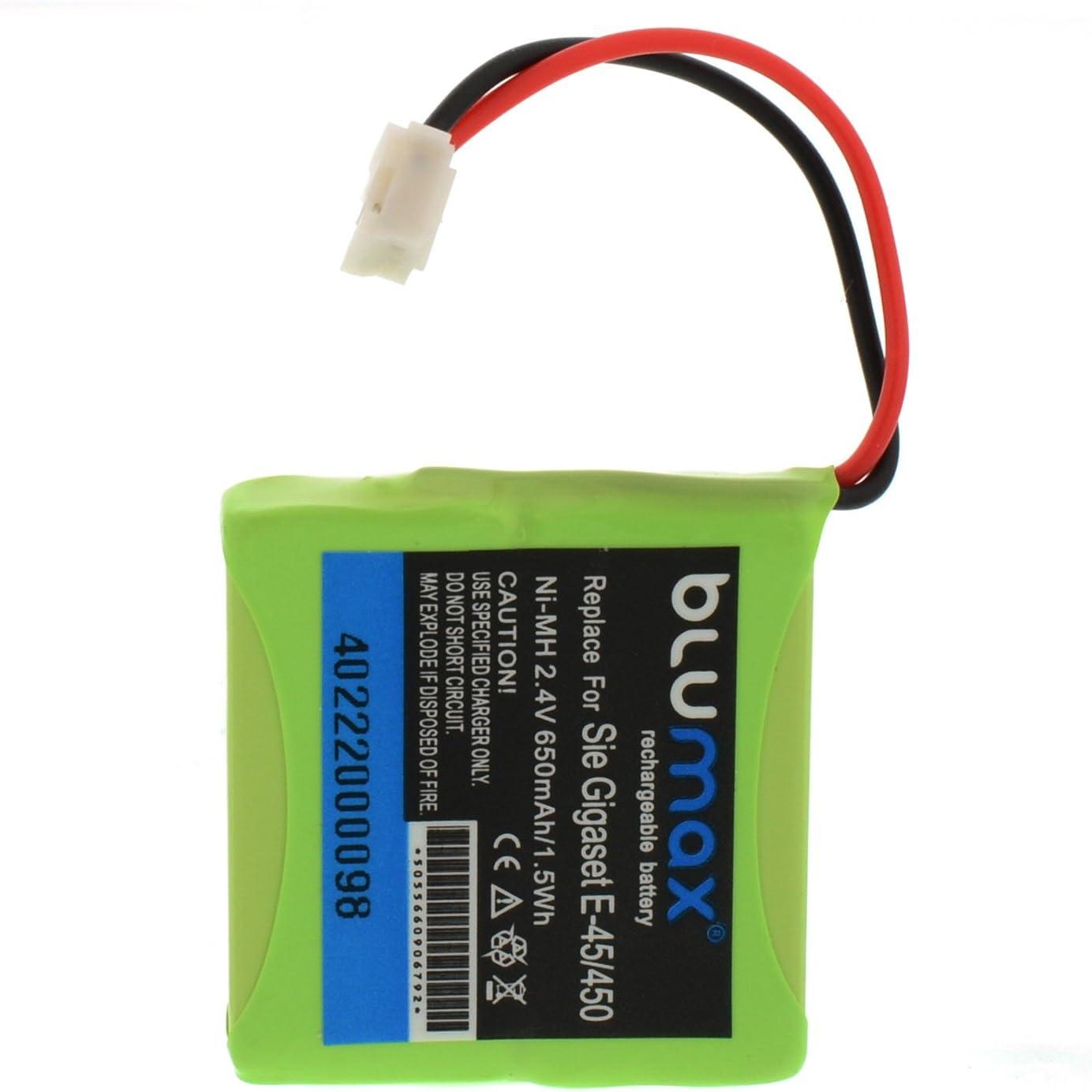 Blumax V30145-K1310-X382 - Batería para Siemens Gigaset E455/ECO E-45/E-450/E-455 (Ni-Mh, 650 mAh): Amazon.es: Electrónica