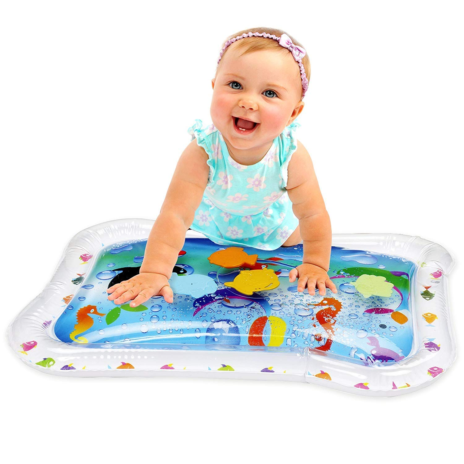 Hoovy Baby Water Play Mat, Fill N Fun Water Play Mat for Children and Infants, Fun Colorful, Play Mat Baby