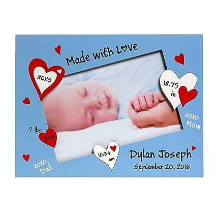 Amazon.com: Bebé marco de fotos personalizado, Baby Boy ...