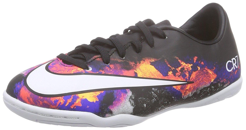 Nike Jr. Mercurial Victory V CR IC Kids Soccer Shoe Black/Crimson/White Size 11 Kids US by Nike