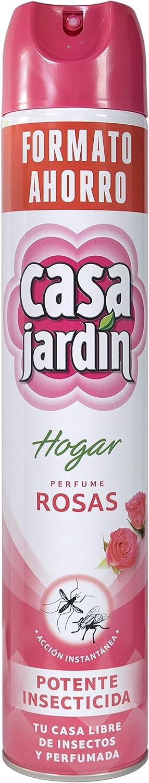 CASA JARDIN | Insecticida Aerosol | Potente Insecticida | Acción Instantánea| Hogar Libre de Insectos | Perfume Rosas | Contenido 750 ml: Amazon.es: Salud y cuidado personal