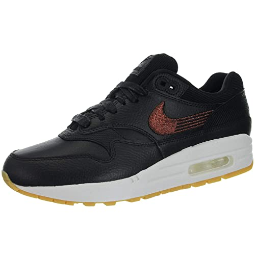 Women's Nike Air Max 1 PRM BlackGum Yellow Summit White