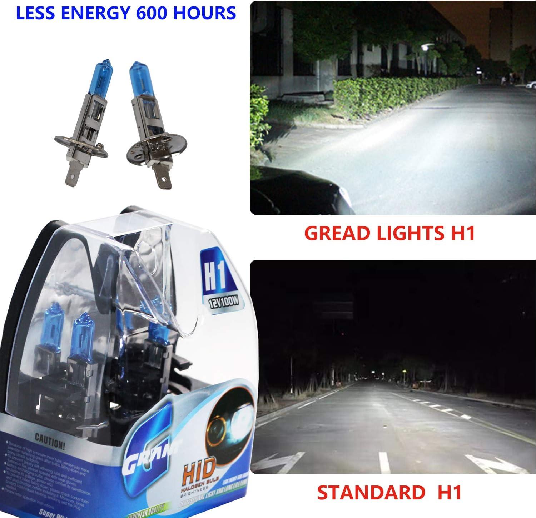 Ampoule halog/ène pour phares avant Super blanc 5 000 K 12 V 100 W H4
