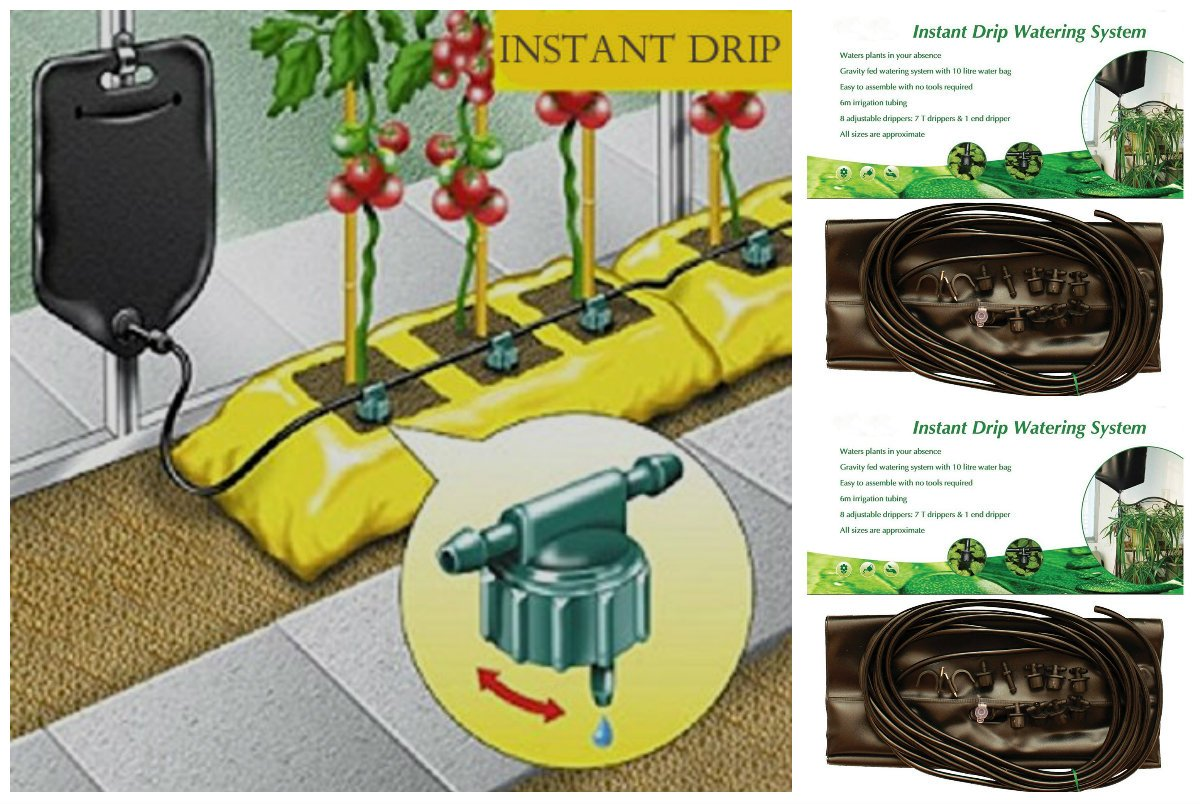 Garden Gear Mighty Dripper Greenhouse Plant Watering Irrigation System Gravity Fed Water Drip Kit Pack Of 4