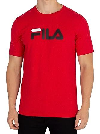 Fila Logo Herren T-Shirt Rot: Amazon.de: Bekleidung