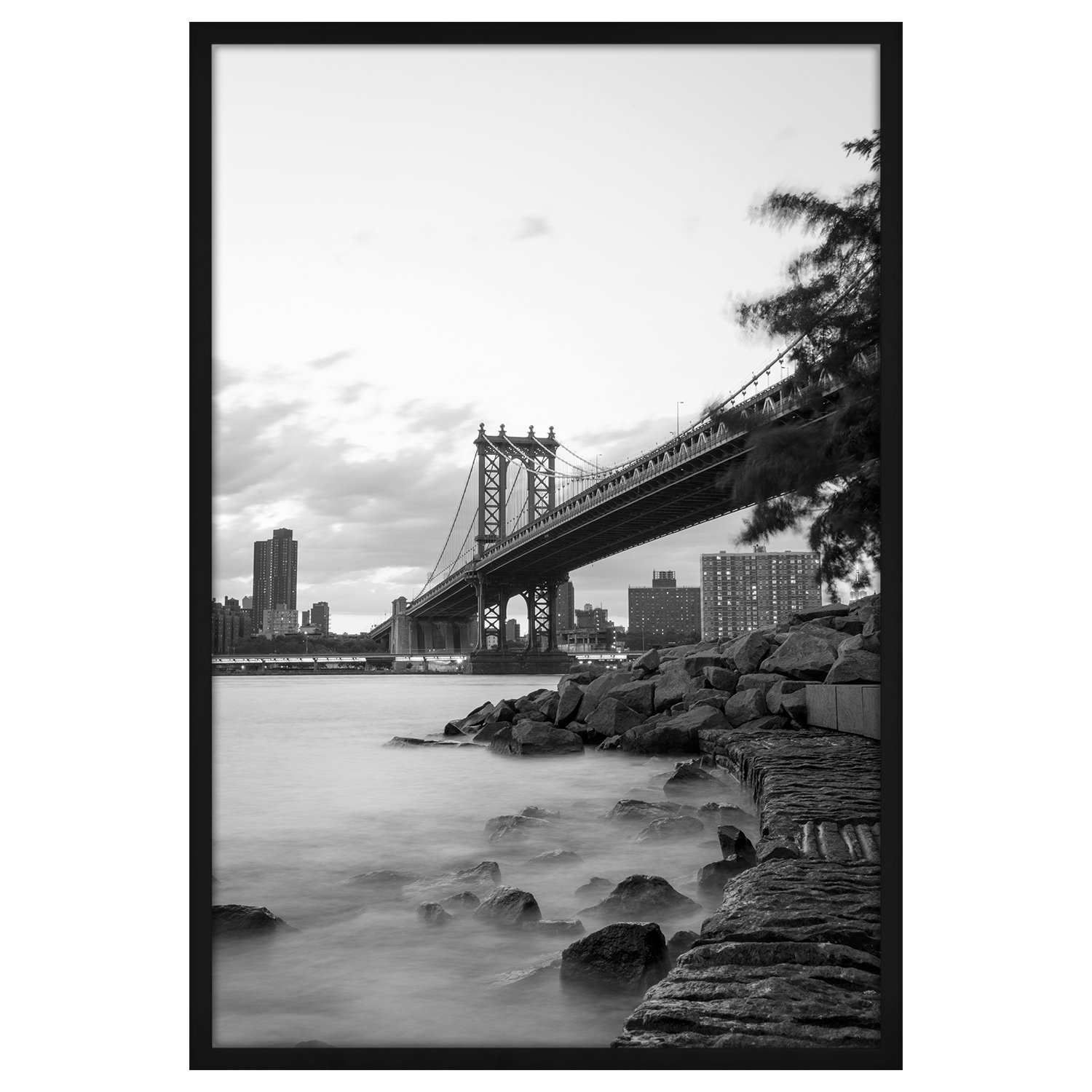 Americanflat 24x36 Black Poster Frame - Designed to Display Vertically or Horizontally on a Wall - Plexiglass Front
