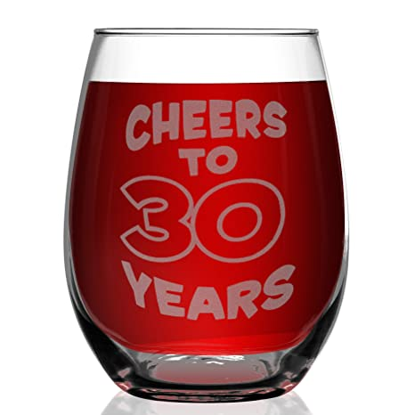Amazon.com: shop4ever Cheers a 30 años de grabado de vasos ...
