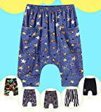 COMVIP Kids Summer Casual Elastic Pattern Cropped