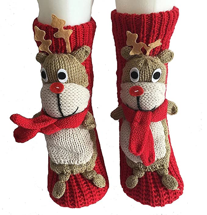 PreSox antideslizante suéter de punto calientes calcetines de piso de casa para las mujeres: Amazon.es: Ropa y accesorios