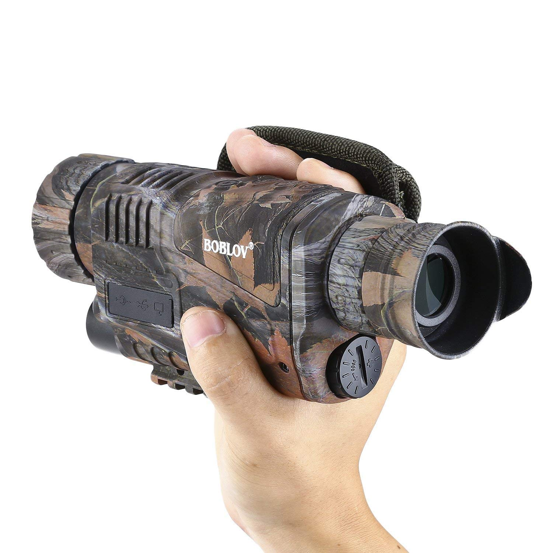 Gafas monocular de visión nocturna, 5 cámaras de vídeo digital ...