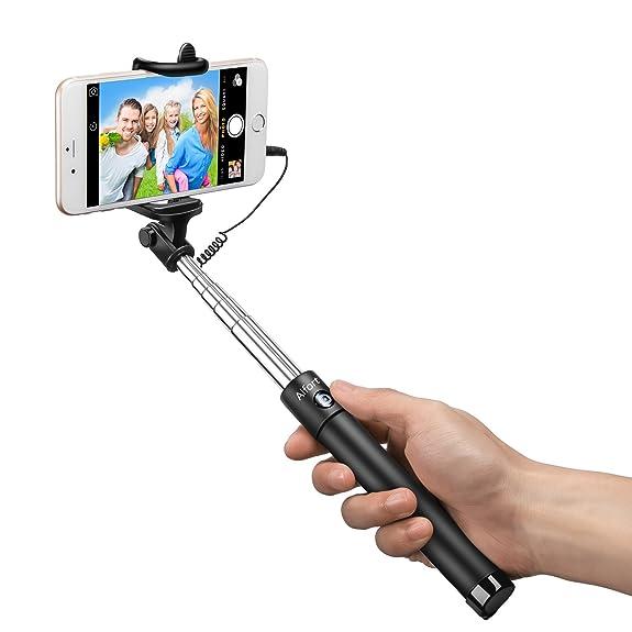 Amazon.com: Selfie Stick, Alfort Wired Handheld Self-portrait ...