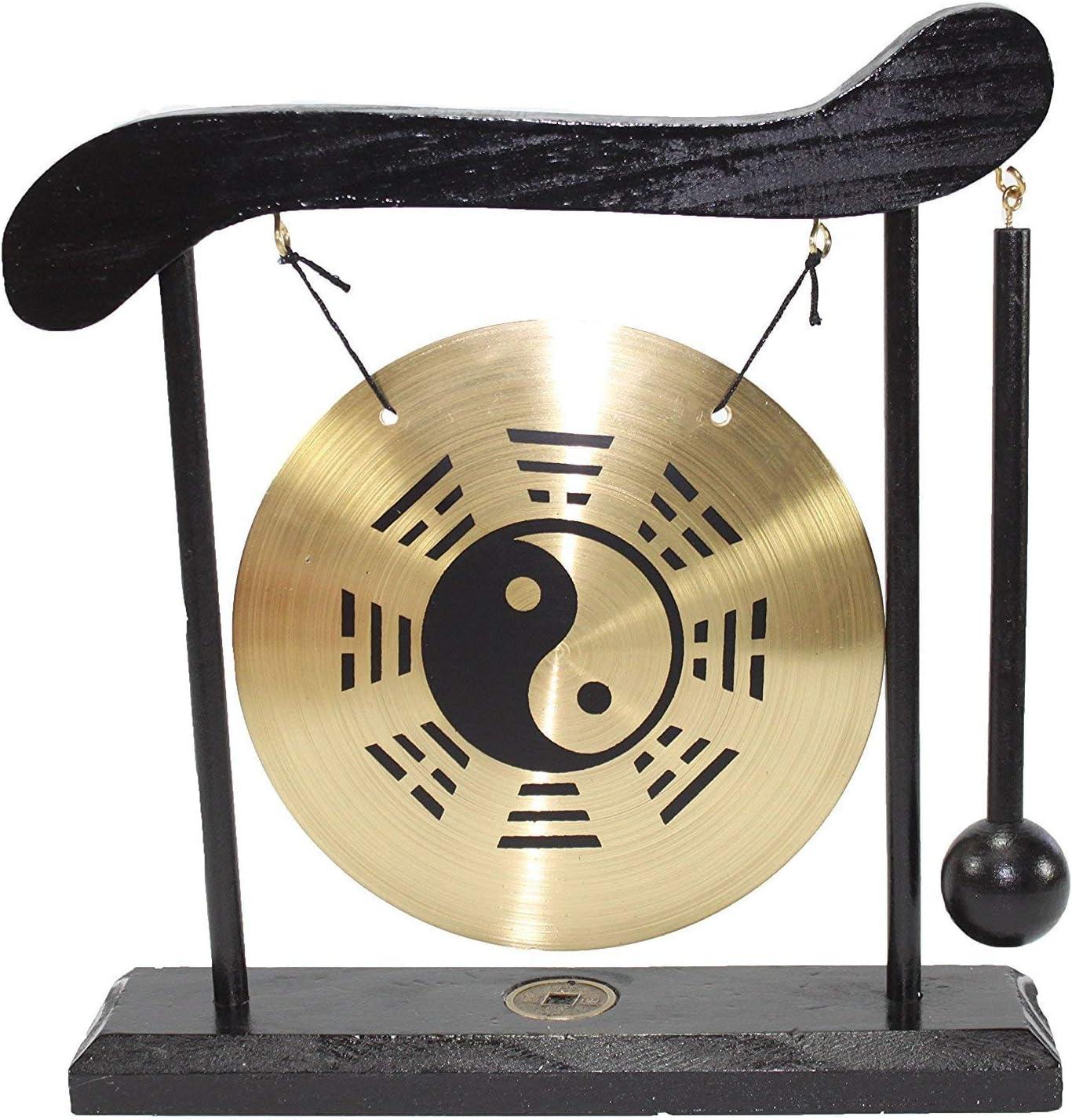 Zen Table Gong Taiji Symbol Feng Shui Meditation Desk Bell Home Decor Housewarming Congratulatory Blessing Gift