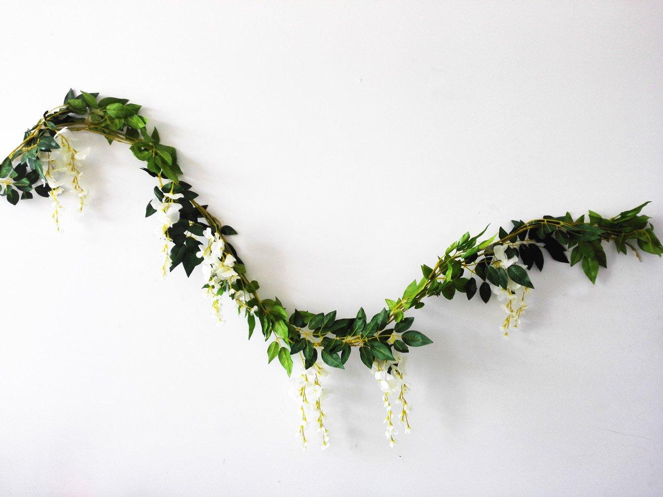 Amazon Sunrisee 2 Pcs Artificial Flowers 66ft Silk Wisteria