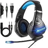 Jawwei ゲーミング ヘッドセット ヘッドホン ヘッドフォン ゲームヘッドセット マイク付き ゲーム用 ボイスチャット FPS PCゲーム PS4 に対応