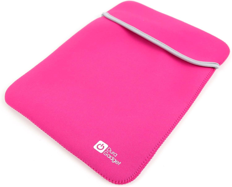 DURAGADGET Pink & Black Reversible Lightweight Neoprene Case - Compatible with Vtech Dora The Explorer Laptop