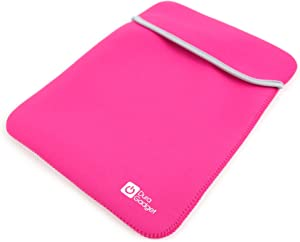 DURAGADGET Pink & Black Reversible Lightweight Neoprene Case - Compatible with Acer Switch Alpha 12 Laptop