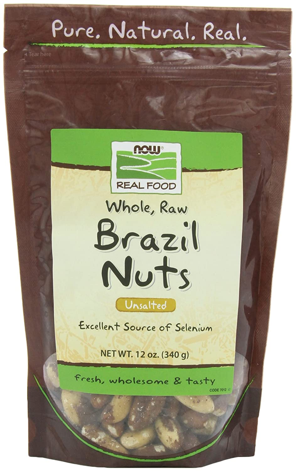 NOW Foods Raw Brazil Nuts, 12-Ounce(Pack of 3)