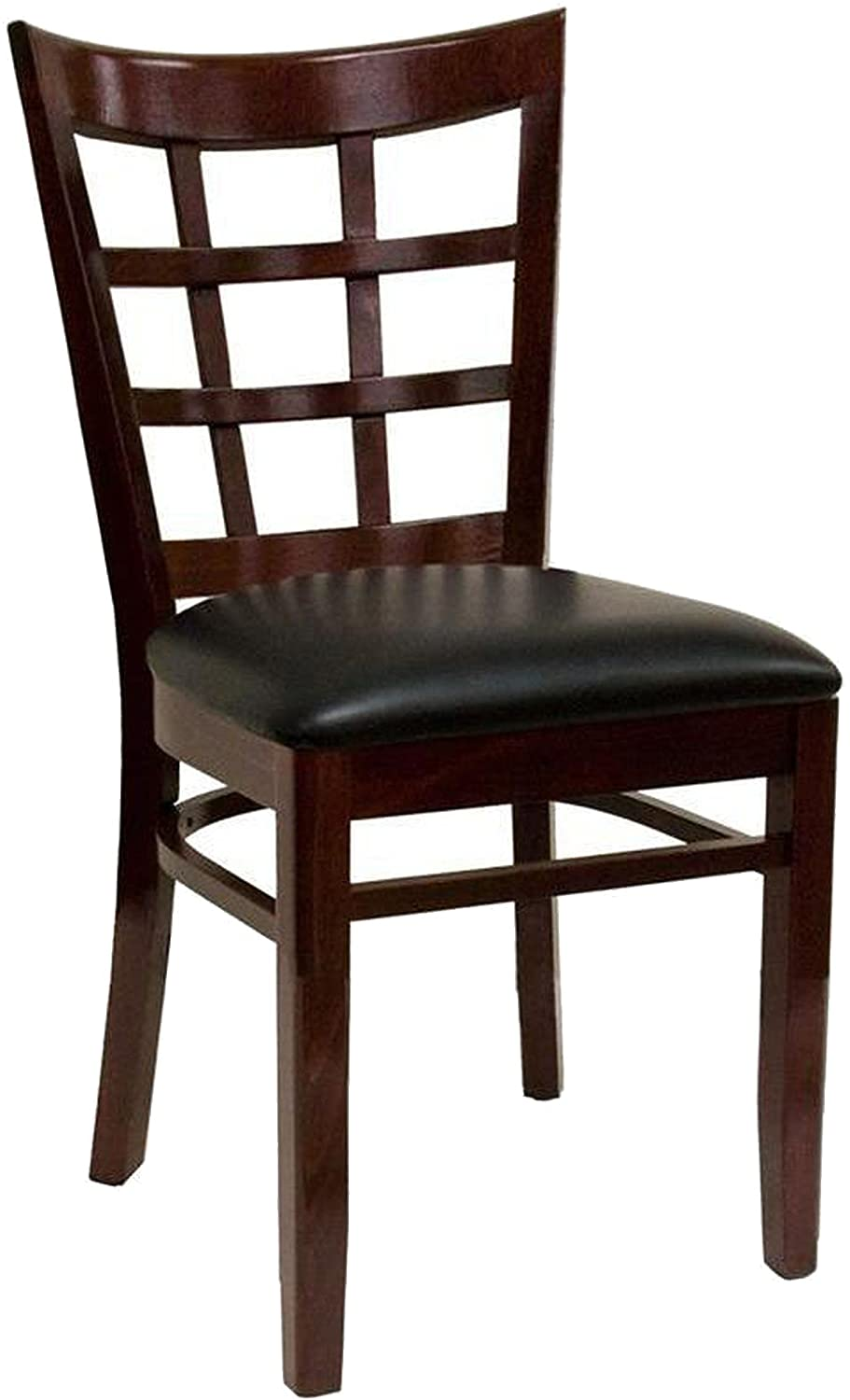American Tables Seating 523 DM GR5 Nine Grid Back Wood Chair Grade 5 Seat 17 x 17 x 34 Dark Mahogany
