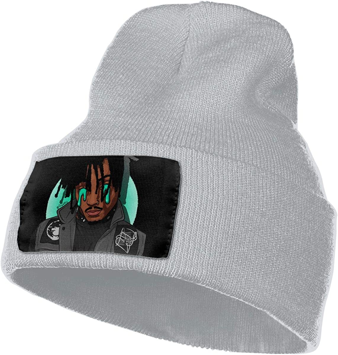 Cewrightdric Winter Juice Wrld Warm Soft Knit Cap Beanie Hats for Mens Womens Black