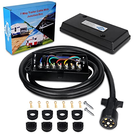 Pleasant Amazon Com Waterwich Heavy Duty 7 Way Trailer Plug Cord With 7 Gang Wiring Digital Resources Indicompassionincorg