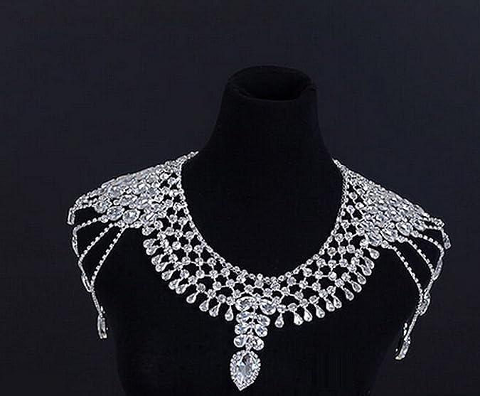 Lovely Bridal Crystal Rhinestone Shoulder Deco Bra Strap Halter Necklace Nr481 Bridal & Wedding Party Jewelry Engagement & Wedding