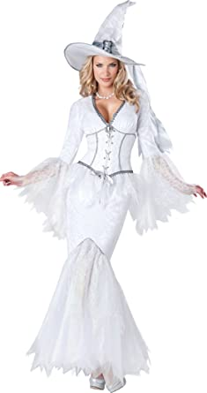 InCharacter Costumes Womenu0027s White Magic Witch Costume White Small  sc 1 st  Amazon.com : white witch costumes  - Germanpascual.Com