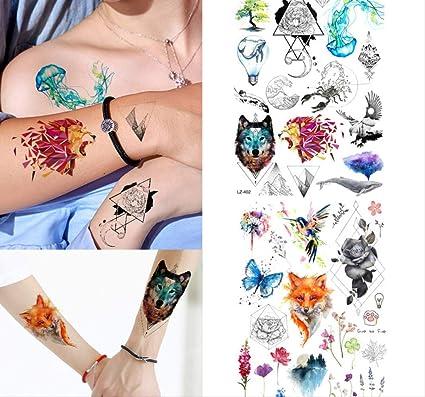 yyyDL etiqueta engomada del tatuaje temporal del arte 172D Tatuaje ...