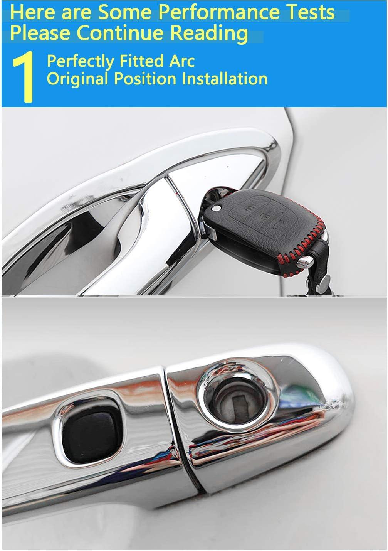 BNHHB Autot/ürgriffabdeckung f/ür Toyota ist 2002-2007 Chrom-Au/ßent/ürgriffabdeckung Sicherheits-T/ürgriffabdeckung Schutzabdeckung Verkleidung